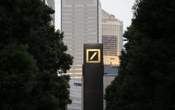 A logo of Deutsche Bank AG is seen in Tokyo September 9, 2013.   REUTERS/Toru Hanai