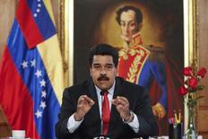 Presidente da Venezuela, Nicolás Maduro, durante coletiva de imprensa no Palácio Miraflores, em Caracas. 2/09/2014. REUTERS/Miraflores Palace/Handout via Reuters