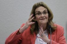 A presidente da Petrobras, Maria das Graças Foster (foto arquivo) , disse que a produção de petróleo da companhia em agosto subiu para cerca de 2,1 milhões de barris por dia. REUTERS/Ueslei Marcelino