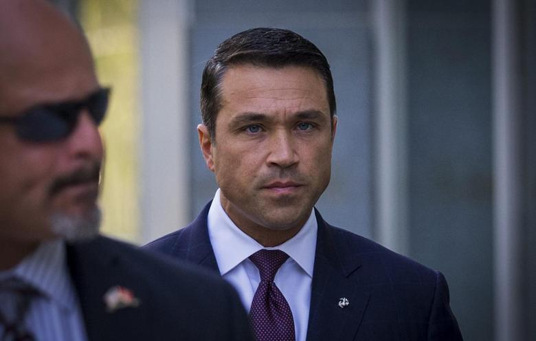 U.S. Representative Michael Grimm (R-NY) arrives at the Brooklyn Federal Courthouse in the Brooklyn Borough of New York September 2, 2014.   REUTERS/Brendan McDermid