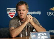 U.S. Davis Cup captain Patrick McEnroe talks during a news conference during the U.S. Open tennis tournament in Flushing Meadows in New York, September 4, 2008.     REUTERS/Teddy Blackburn