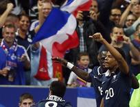 Remy comemora gol da França contra a Espanha.   REUTERS/Benoit Tessier
