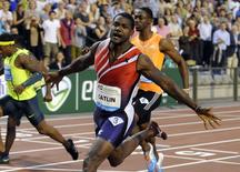 Justin Gatlin of the U.S. competes during the men's 100 metres at the IAAF Diamond League athletics meet, also known as Memorial Van Damme, in Brussels September 5, 2014.  REUTERS/Eric Vidal