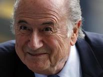 Presidente da Fifa, Joseph Blatter, no Mineirão antes de partida da Copa do Mundo. 08/07/2014 REUTERS/David Gray