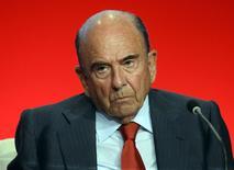 Chairman do banco Santander, Emilio Botín, durante reunião anual de acionistas em Santander, na Espanha. 28/03/2014.  REUTERS/Vincent West