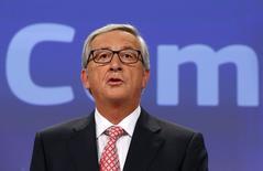 Presidente eleito da Comissão Europeia, Jean-Claude Juncker, em entrevista coletiva na sede da entidade em Bruxelas. 10/09/2014 REUTERS/Yves Herman