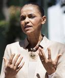 Candidata à Presidência do PSB, Marina Silva, fala em São Paulo. 8/9/2014  REUTERS/Bruno Santos