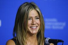 "Actress Jennifer Aniston speaks at the ""Cake"" news conference at the Toronto International Film Festival (TIFF) in Toronto, September 9, 2014.    REUTERS/Mark Blinch"