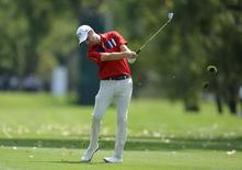 Sep 5, 2014; Cherry Hills Village, CO, USA; Chris Kirk drives from the 4th fairway during the second round of the BMW Championship at Cherry Hills Country Club. Mandatory Credit: Ron Chenoy-USA TODAY Sports