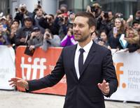"Ator Tobey Maguire chega à premire de ""Pawn Sacrifice"" no Festival de Toronto. 11/09/2014 REUTERS/Fred Thornhill"