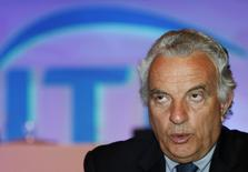International Tennis Federation (ITF) President Francesco Ricci Bitti of Italy speaks during a news conference at a hotel in Bangkok September 23, 2011. REUTERS/Chaiwat Subprasom