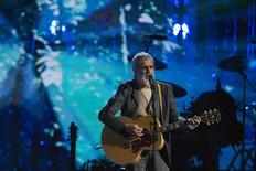 British singer-songwriter and humanitarian Yusuf Islam, commonly known by his former stage name Cat Stevens, performs after he was inducted during 29th annual Rock and Roll Hall of Fame Induction Ceremony at the Barclays Center in Brooklyn, New York April 10, 2014.  REUTERS/Lucas Jackson