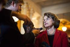 U.S. Senator Dianne Feinstein (D-CA) talks to reporters at the U.S. Capitol in Washington September 9, 2014. REUTERS/Jonathan Ernst