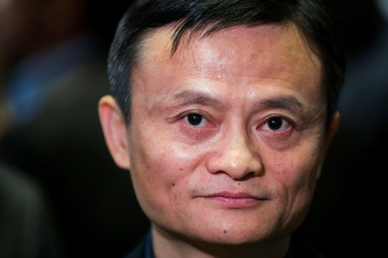 Alibaba Group Holding Ltd. founder Jack Ma waits for an interview at the New York Stock Exchange before the company's initial public offering (IPO) under the ticker ''BABA'', in New York September 19, 2014. REUTERS/Lucas Jackson