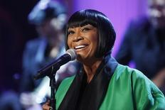 "Patti LaBelle sings Over the Rainbow during a television taping of ""In Performance at the White House: Women of Soul"" in Washington March 6, 2014.  REUTERS/Jonathan Ernst"