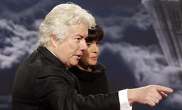 British author Ken Follett and his wife Barbara arrive for the screening of the German television production Die Saeulen der Erde, based on the novel The Pillars of the Earth by Follett, in Berlin October 26, 2010. REUTERS/Tobias Schwarz