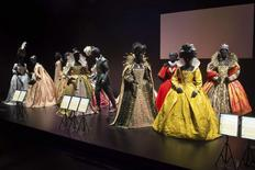 Elizabethan costumes are shown on display at the Hollywood Costume exhibit, curated by the Academy of Motion Pictures Arts and Sciences and London's Victoria & Albert museum, at the future home of the Academy Museum of Motion Pictures in Los Angeles, in this publicity photo released to Reuters on September 30, 2014. REUTERS/Greg Harbaugh/Copyright 2014 AMPAS/Handout via Reuters
