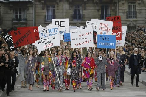 Chanel goes protest chic