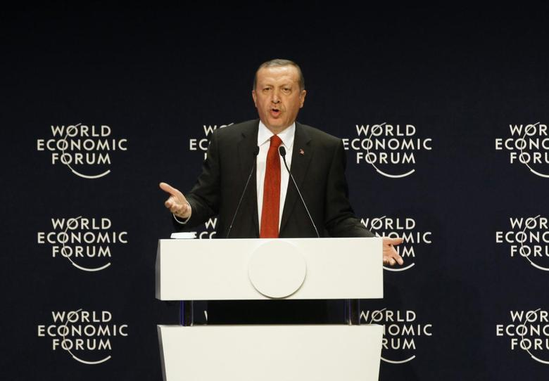 Turkey's President Tayyip Erdogan speaks during the World Economic Forum Special Meeting on Unlocking Resources for Regional Development in Istanbul September 28, 2014. REUTERS/Osman Orsal