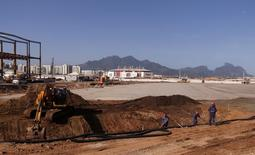 Construção do Parque Olímpico para Jogos do Rio. Foto de 6 de agosto.  REUTERS/Sergio Moraes