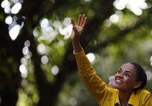 Candidata do PSB à Presidência, Marina Silva, participa de evento de campanha no Rio de Janeiro. 03/10/2014. REUTERS/Ricardo Moraes