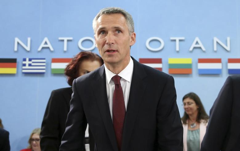 New NATO Secretary General Jens Stoltenberg of Norway arrives to chair his first meeting at the Alliance headquarters in Brussels October 1, 2014. REUTERS/Francois Lenoir