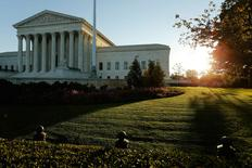 A general view of the U.S. Supreme Court building at sunrise is seen in Washington October 5, 2014.    REUTERS/Jonathan Ernst