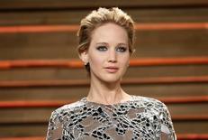 A atriz Jennifer Lawrence chega para um evento em West Hollywood, na Califórnia, Estados Unidos, em março. 02/03/2014 REUTERS/Danny Moloshok