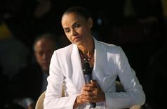Candidata derrotada à Presidência pelo PSB, Marina Silva dá entrevista coletiva em São Paulo. 05/10/2014. REUTERS/Nacho Doce