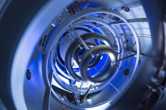 The magnetic coils inside the compact fusion experiment pictured in an undated photo provided by Lockheed Martin. REUTERS/Lockheed Martin