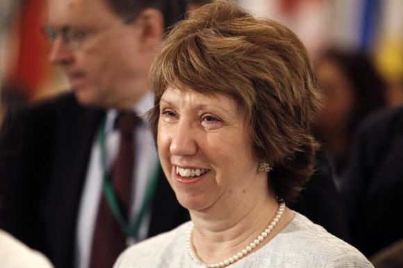 EU Foreign Policy Chief Catherine Ashton attends the Gaza international donors conference in Cairo October 12, 2014.    REUTERS/Mohamed Abd El Ghany