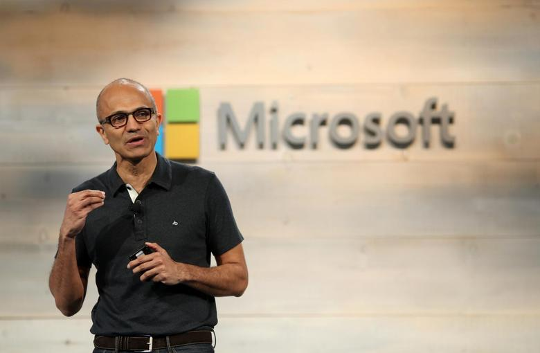 Microsoft CEO Satya Nadella speaks during a Microsoft cloud briefing event in San Francisco, California October 20, 2014. REUTERS/Robert Galbraith