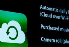 L'iCloud, le service de stockage de données d'Apple, a subi en Chine une cyberattaque à laquelle le gouvernement pourrait être lié, selon le site chinois Greatfire.org. /Photo d'archives/REUTERS/Beck Diefenbach