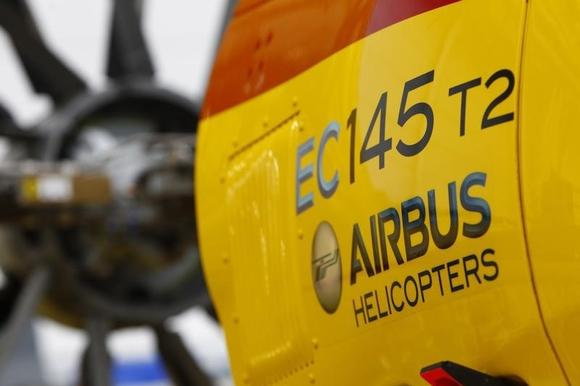 A general view of an EC145 helicopter being assembled at the Airbus production facility in Donauwoerth, Southern Germany October 9, 2014.    REUTERS/Michaela Rehle