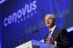 Brian Ferguson, president and CEO of Cenovus addresses shareholders at the company's annual general meeting in Calgary, Alberta, April 25, 2012. REUTERS/Todd Korol