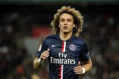Zagueiro David Luiz durante partida do Paris St. Germain contra o St. Etienne pelo Campeonato Francês. 31/08/2014. REUTERS/Benoit Tessier