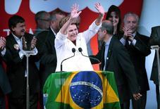 Presidente Dilma Rousseff, reeleita neste domingo. REUTERS/Ueslei Marcelino