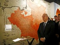 Israel's President Reuven Rivlin visits newly built Museum of the History of Polish Jews in Warsaw October 28, 2014. REUTERS/Kacper Pempel