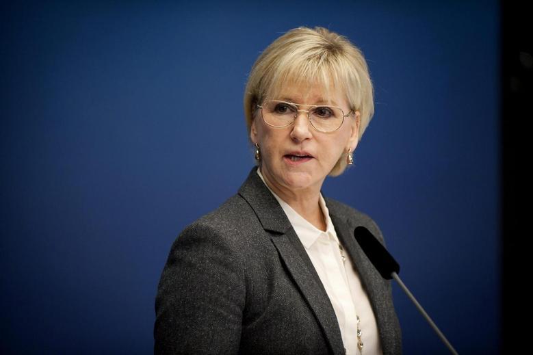 Sweden's Foreign Minister Margot Wallstrom attends a news conference at the Rosenbad government building in Stockholm October 30, 2014.  REUTERS/Annika AF Klercker/TT News Agency