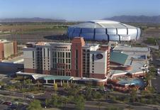 An overview of the University of Phoenix Stadium Stadium and the Renaissance Hotel is shown in this photo courtesy of City of Glendale. REUTERS/City of Glendale/Handout
