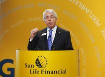 Sun Life Financial Chief Executive Dean Connor speaks during the company's annual general meeting for shareholders in Toronto May 7, 2014. REUTERS/Mark Blinch