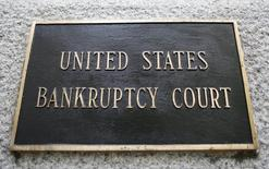 A Plaque on the U.S. Bankruptcy Court building in New York, April 30, 2009. REUTERS/Brendan McDermid