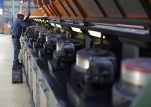 Imagen de archivo de la planta acerera de Tim en Huamantla, México, oct 11 2013. La inversión de las empresas en México creció un 0,40 por ciento en agosto, reflejando una desaceleración respecto al mes anterior debido a menores compras de maquinarias y equipos, aunque sostenida por un repunte en lo destinado a la construcción. REUTERS/Tomas Bravo