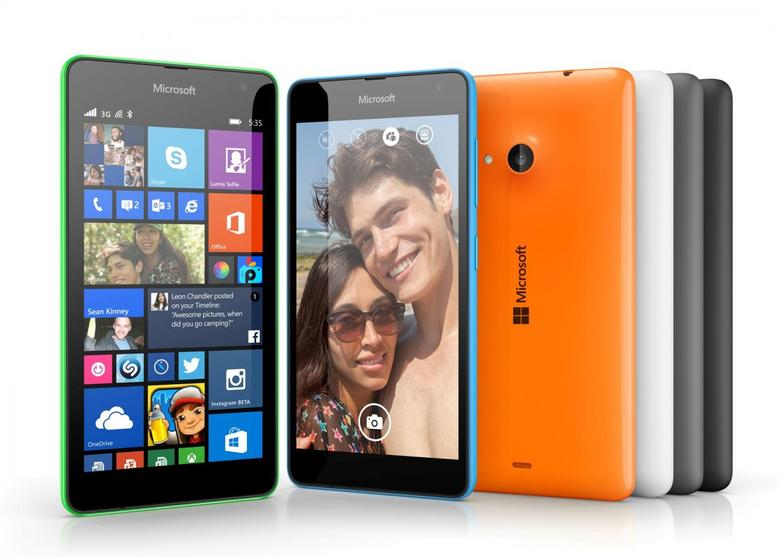 The new Lumia 535 smartphone from Microsoft.    REUTERS/Courtesy Microsoft