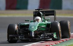 Caterham Formula One driver Kamui Kobayashi of Japan drives during the second practice session of the Japanese F1 Grand Prix at the Suzuka Circuit October 3, 2014.  REUTERS/Toru Hanai