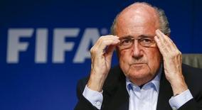 O presidente da Fifa, Joseph Blatter, concede entrevista coletiva em Zurique em 26 de setembro de 2014. Reuters/Arnd Wiegmann
