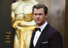 """L'acteur australien Chris Hemsworth, 31 ans, a été déclaré par le magazine américain People """"homme le plus sexy"""" au monde. /Photo prise le 2 mars 2014/REUTERS/Lucas Jackson"""