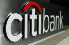 A Citibank sign is shown in downtown Los Angeles, California October 29, 2014.    REUTERS/Mike Blake