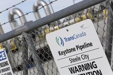 A TransCanada Keystone Pipeline pump station operates outside Steele City, Nebraska March 10, 2014.    REUTERS/Lane Hickenbottom
