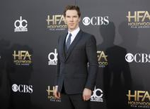 Actor Benedict Cumberbatch arrives at the Hollywood Film Awards in Hollywood, California November 14, 2014.  REUTERS/Danny Moloshok